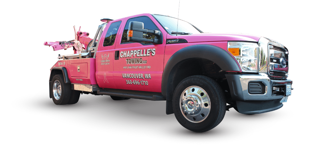 Chappelles Towing Pink Tow Truck